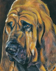 Bloodhound art print CANVAS print of LA Shepard by TheDogLover, $39.99