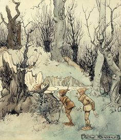 Elves In A Wood Canvas Print / Canvas Art by Arthur Rackham