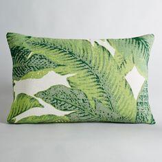 Capa de almofada com estampado folhas. 100% algodão.  Com fecho.Dim.: 60 x 40 cm.