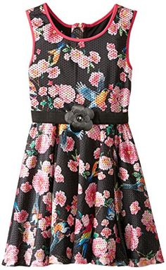 Pippa  Julie Big Girls Floral Printed Athleisure Belted Dress Multi 14 >>> Be sure to check out this awesome product.