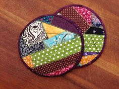Pot holders / hot pads : crazy patch on Etsy, $10.50