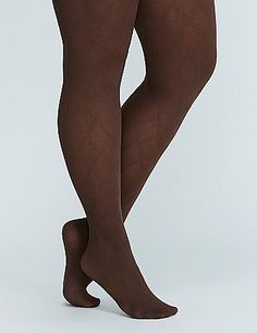 Wear these control top tights under your fave dresses for a leaner look and diamond texture. lanebryant.com