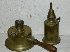 Lampe Pigeon et Réchaud à alcool en cuivre  par vintagemadeinFRANCE