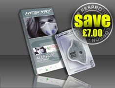 RESPRO® ALLERGY MASK & CHEMICAL/ PARTICLE FILTER COMBO PACK - Save £7