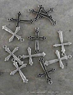 Alloy Cross Pendants             Antique Silver                      CC-80238