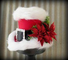 Santa Mini Top Hat Alice in Wconderland Mini Top Hat by ChikiBird