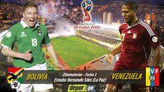 Bolivia y Venezuela se medirán mañana en el estadio Hernando Siles de La Paz en busca de sus primeros puntos en las Eliminatorias Rusia 2018. Noviembre 11, 2015.