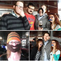 Mustache fun w/ KC Fake Mustache Club and @Staples Promotional Products