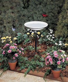20 in. Bird Bath with  Metal Stand (non-heated)