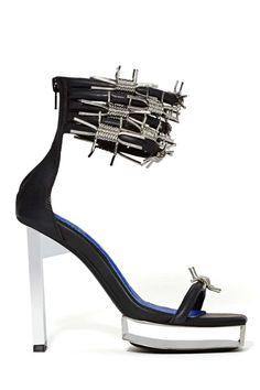 Jeffrey Campbell Lynk MP Heel at Nasty Gal Pretty Shoes, Beautiful Shoes, Jeffrey Campbell, Crazy Shoes, Me Too Shoes, Weird Shoes, Suede Heels, Shoes Heels, Goth Shoes