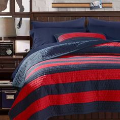 N Approved Rugby Stripe Quilt + Sham