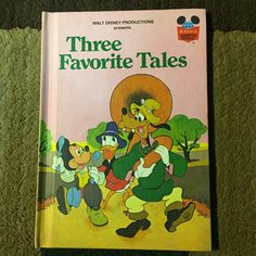 Disney's Wonderful World of Reading - Three Favorite Tales - 1975 - Hardcover - Mickey Mouse - Donald Duck - Goofy by HECTORSVINTAGEVAULT on Etsy