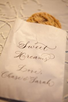 Cookie Buffet take away bags.  Style Me Pretty Photography by www.rayaphotograp...