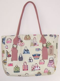 Handmade Tote Bag with Leather Handles