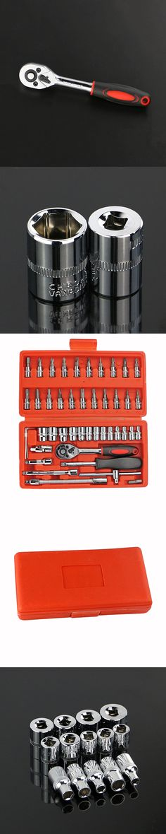 "46pcs Ferramentas Grip Herramientasspanner Socket Set 1/4"" Car Repair Tool Wrench Cr-v Hand Tools Combination Bit Kit Ad2001"