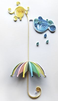 unique umbrella - I Love Quilling !  Bought a beginner set about a month ago.