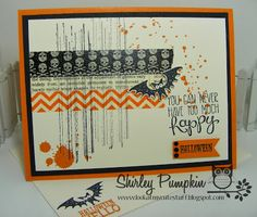 Cute stuff by Shirley: Halloween Hello Card and Last Day for 25% off 25 Stamp Sets