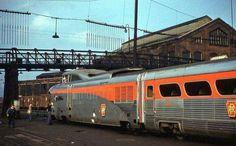 Pennsylvania Railroad Aerotrain at Altoona PA, June - Reise Pin Diesel, Grand Funk Railroad, Gas Turbine, Pennsylvania Railroad, Covered Wagon, Rail Car, Electric Train, Local Attractions, Train Tracks