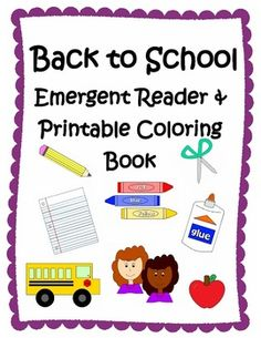 This is a cute & colorful class emergent reader about starting a new school year.   **Includes black & white printable book for students to color, cut and staple together.   **Includes picture cards for students to retell the story or to play a matching game