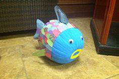 Rainbow Fish Pumpkin Classroom Projects, School Projects, Fun Projects, Character Pumpkins, Pumpkin Designs, Rainbow Fish, Pumpkin Art, Happy Fall Y'all, Dinosaur Stuffed Animal