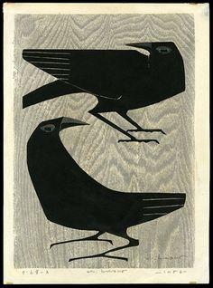 Kunihiro Amano, woodcut