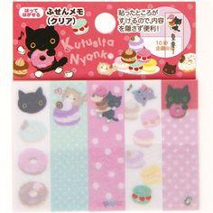 Kutusita Nyanko cat Post-it bookmark stickers donut @modes4u