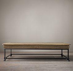 Metal Parquet Coffee Table Coffee Tables Restoration Hardware