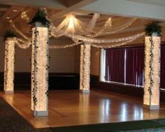 smaller versions of these are pretty. with tule and candles or lights behind. … smaller versions of these are pretty. with tule and candles or lights behind. tall but obviously not THAT tall Masquerade Party Decorations, Dance Decorations, Dance Themes, Prom Themes, Prom Decor, Wedding Decorations, Masquerade Ball, Dance Floor Wedding, Prom Dance