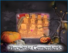 Cementerio Brownie. http://ljardindelasdelicias.blogspot.com.es/2013/10/tartas.html