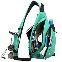 Blue Orange Fleece Shark Sling Strap Backpack