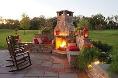 Outdoor patio fireplace patio with fireplace stone patios with fireplaces home garden showplace patio with fireplace . Outside Fireplace, Backyard Fireplace, Backyard Patio, Backyard Landscaping, Backyard Ideas, Pergola Ideas, Pergola Kits, Porch Fireplace, Fireplace Stone