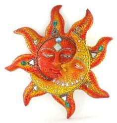 mosaic sun and moon