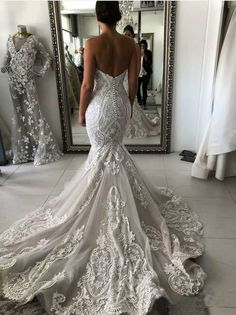 Vintage Lace Wedding Dresses Sweetheart Neck Mermaid Wedding Dress AWD – SheerGirl Mermaid Sexy Deep V-back Wedding Dress.The professional tailors from wedding dress Top Wedding Dresses, Stunning Wedding Dresses, Sweetheart Wedding Dress, Lace Mermaid Wedding Dress, Wedding Dress Trends, Mermaid Dresses, Perfect Wedding Dress, Bridal Dresses, Mermaid Sweetheart