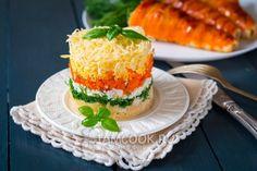 Фото салата «Французский» с яблоком и морковью
