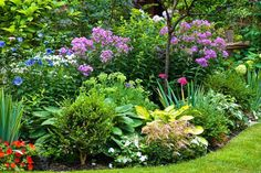 Garden Landscaping I love these ideas for creating gorgeous garden color schemes. I am updating my backyard landscaping and these tips made choosing the plants so much easier. Purple Garden, Colorful Garden, Shade Garden, Amazing Gardens, Beautiful Gardens, Beautiful Gorgeous, Landscape Design, Garden Design, Design Floral
