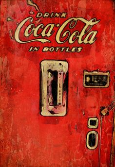Vintage coke by John Mallon Iphoneography, via Flickr  | #typography #red #gold  #iphoneography