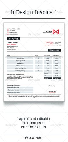 Clean Invoice, GraphicRiver: Clean invoice template designed for any type of business.