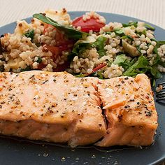 Grilled Salmon with Quinoa and Veggies