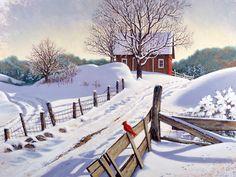 Winter Shadows JohnSloaneArt.com - John Sloane - Gallery - Winter