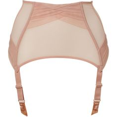 CHANTAL THOMASS Baby Pink Draped Encens Moi Garter Belt ($170) ❤ liked on Polyvore