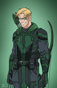 Green Arrow commission by phil-cho on DeviantArt Superhero Characters, Dc Comics Characters, Fantasy Characters, Superhero Suits, Comic Villains, Movie Characters, Comic Books Art, Comic Art, Univers Dc