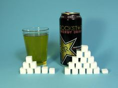 Rockstar Energy Drink   8 oz (240 ml) Serving  Sugars, total:31g  Calories, total:124   Calories from sugar:124  16 oz (480 ml) Can  Su...