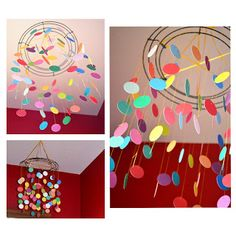 DIY: Polkadots on Parade: Go Mama Monday!! - Polkadot Mobile (Can be made with Paint Chips)