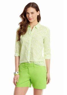 crown  ivy   Painted Dot Printed Shirt