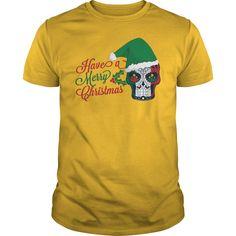 Have a Merry Christmas Tattoo Sugar Skull Tshirt