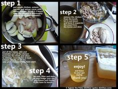 easy-to-make gut-healing bone broth from http://www.eat-real-food-paleodietitian.com/