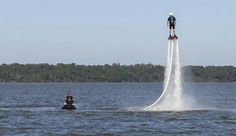 Soar above Lake Conroe on a water-powered rocket