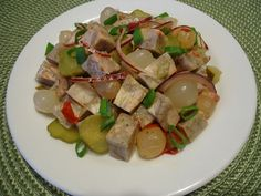 Tlačenkový salát s perlovými cibulkami Asparagus, Potato Salad, Potatoes, Vegetables, Ethnic Recipes, Food, Meal, Potato, Essen