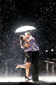 Benji and Irene in the rain