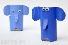 E is for Elephant. Adorable Toilet Paper Roll Elephant craft for preschool. Explore the A-Z Alphabet with Animal Toilet Roll Crafts Circus Activities, Craft Activities For Kids, Preschool Crafts, Fun Crafts, Safari Crafts, Circus Crafts, Diy For Kids, Crafts For Kids, Elephant Crafts